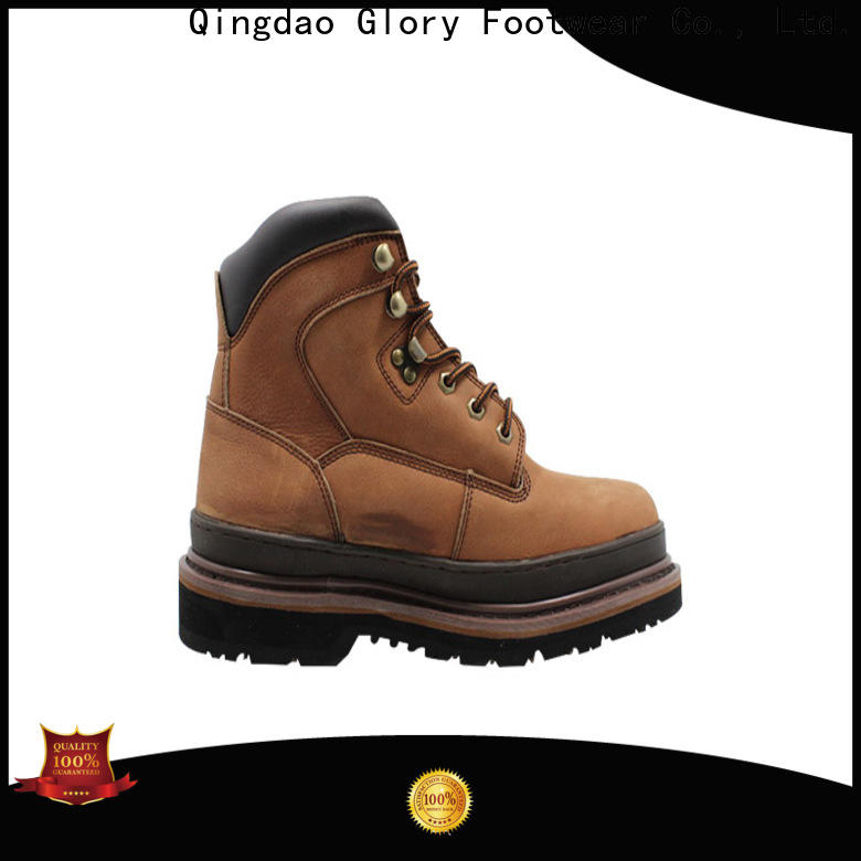 Glory Footwear leather work boots factory price for party