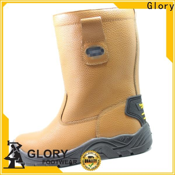 fashion black work boots wholesale for winter day