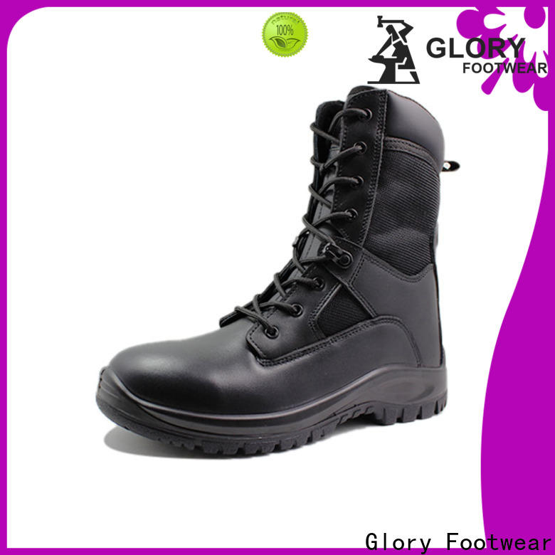 Glory Footwear military combat boots by Chinese manufaturer for winter day