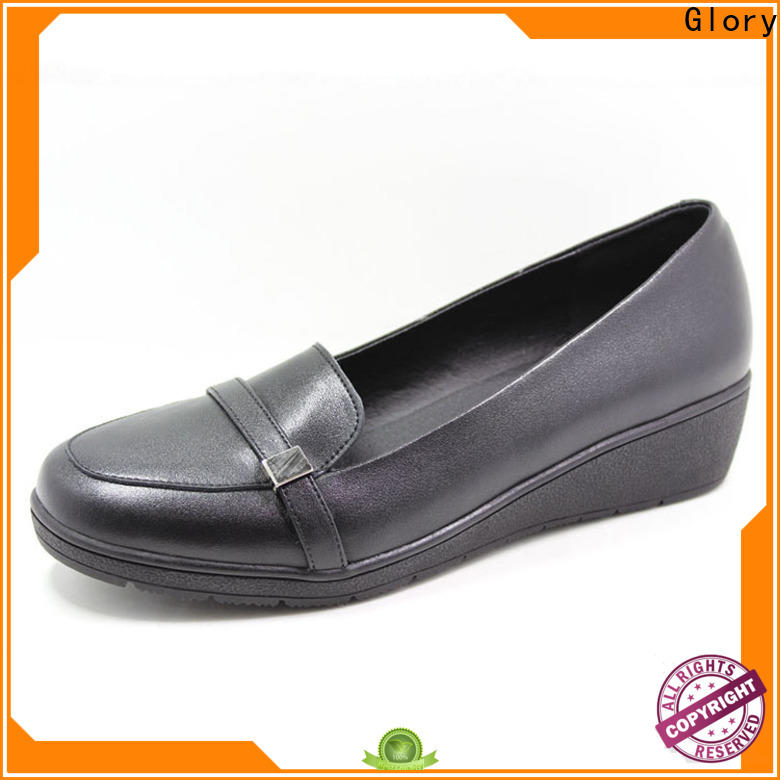 new-arrival leather shoes for girls with cheap price for business travel