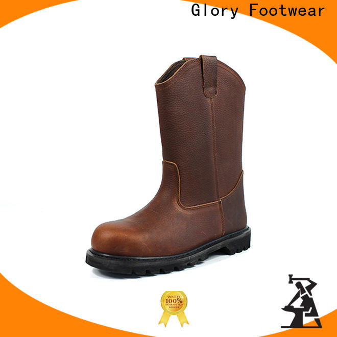 Glory Footwear high cut black work boots Certified for outdoor activity