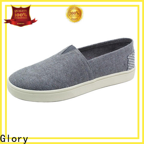 Glory Footwear exquisite white canvas shoes free quote