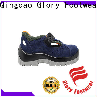 Glory Footwear solid leather safety shoes wholesale for winter day