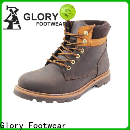 first-rate leather work boots factory price