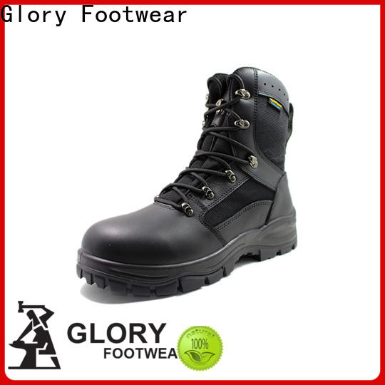 Glory Footwear new-arrival leather combat boots bulk production for hiking