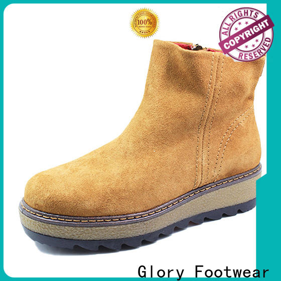 Glory Footwear womens suede winter boots factory price for outdoor activity