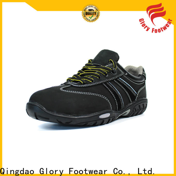 Glory Footwear hot-sale leather safety shoes in different color for business travel