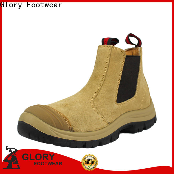 Glory Footwear fashion rubber work boots factory price for party