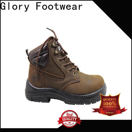 high end black work boots factory price for hiking