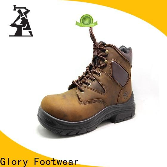 Glory Footwear black work boots factory price for party