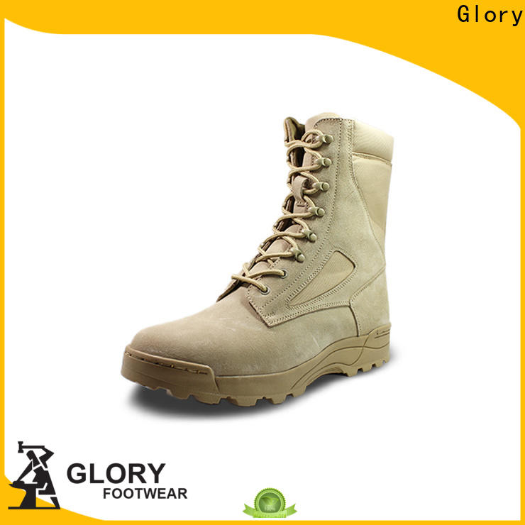 Glory Footwear leather combat boots by Chinese manufaturer for outdoor activity