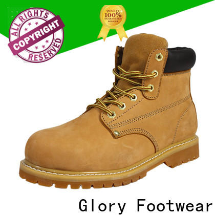 Glory Footwear black work boots wholesale for party