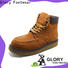 high cut leather work boots with good price for shopping