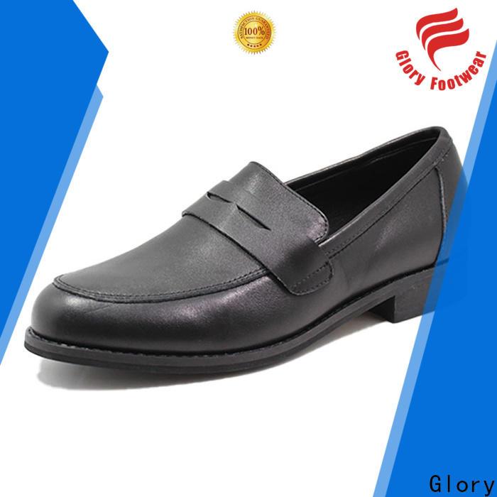 Glory Footwear leather walking shoes bulk production
