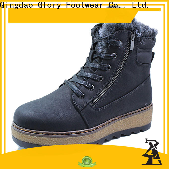 Glory Footwear affirmative womens suede winter boots with good price for outdoor activity