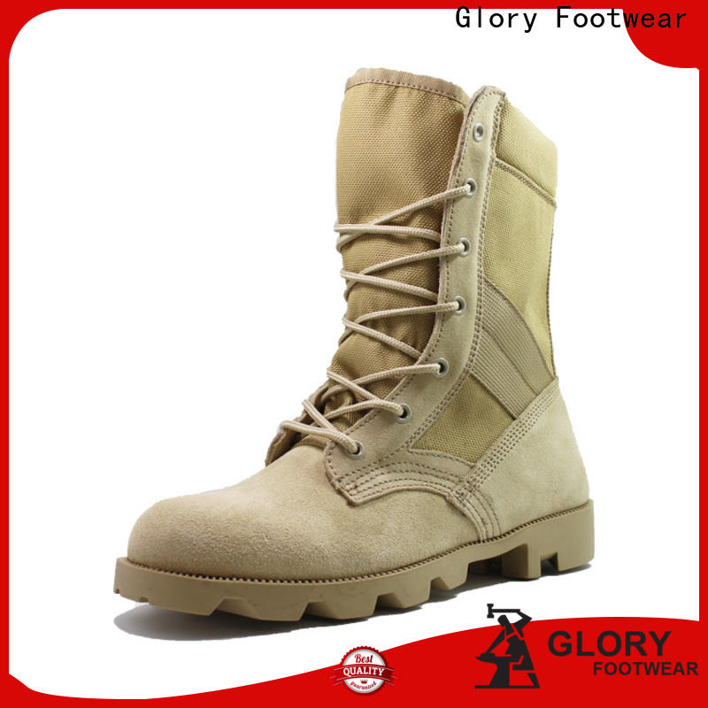 Glory Footwear newly black military boots long-term-use for business travel