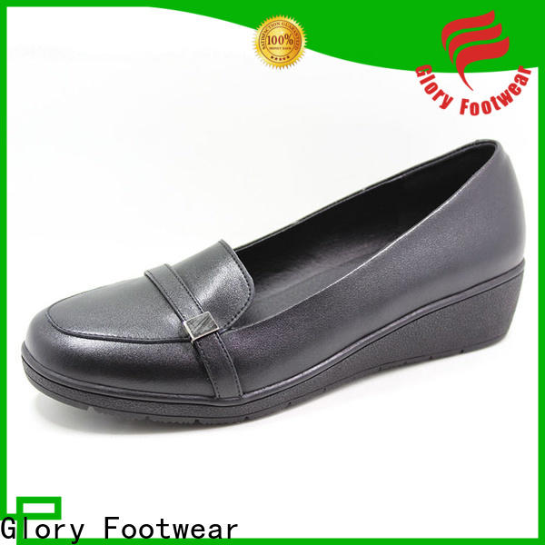 Glory Footwear formal black shoes for ladies bulk production for outdoor activity