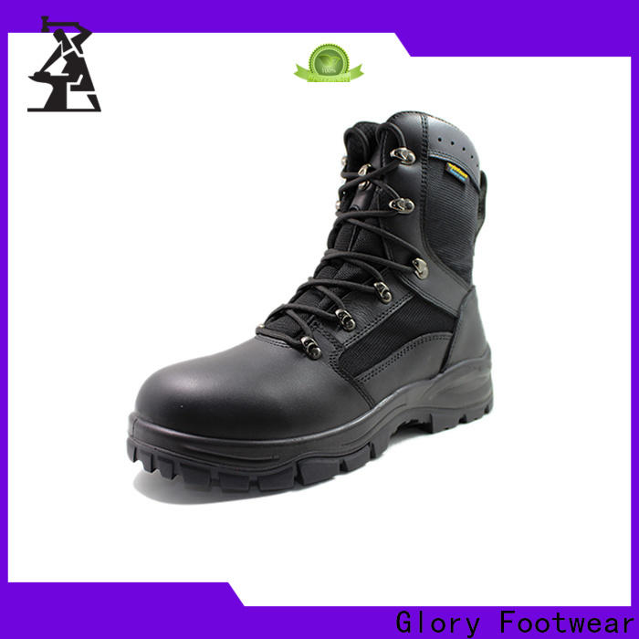 Glory Footwear hot-sale black military boots womens by Chinese manufaturer for winter day