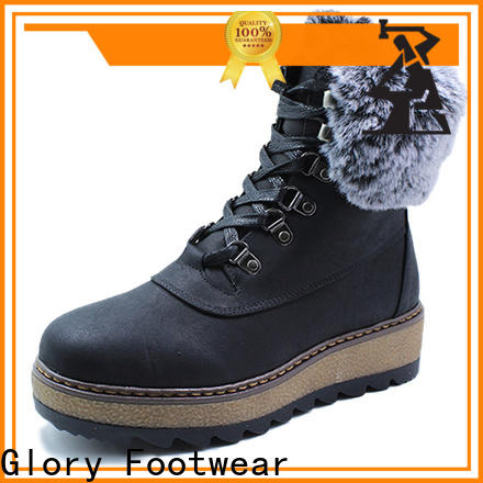 Glory Footwear suede knee high boots factory price for winter day