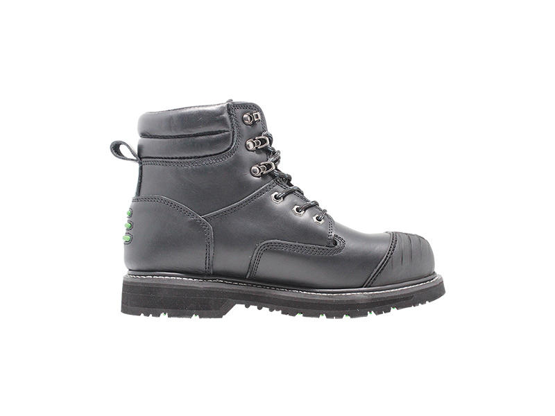 High Cut Industrial Full Grain Leather Goodyear Welted work boots With Steel Toe