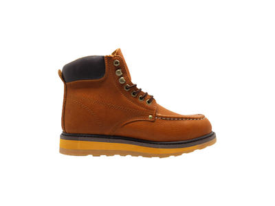 Goodyear Welt Comfortable Genuine Leather rubber sole safety boots With Steel Toe