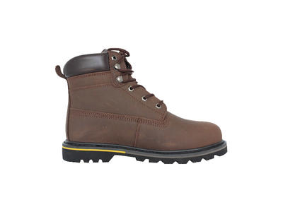 Crazy horse leather goodyear welted safety boots