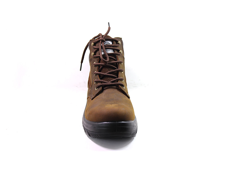 high end black work boots factory price for hiking-2