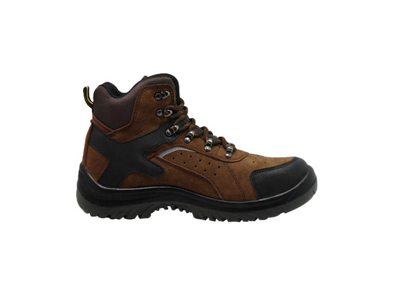 Anti-smashing steel toe Work boots with PU outsole