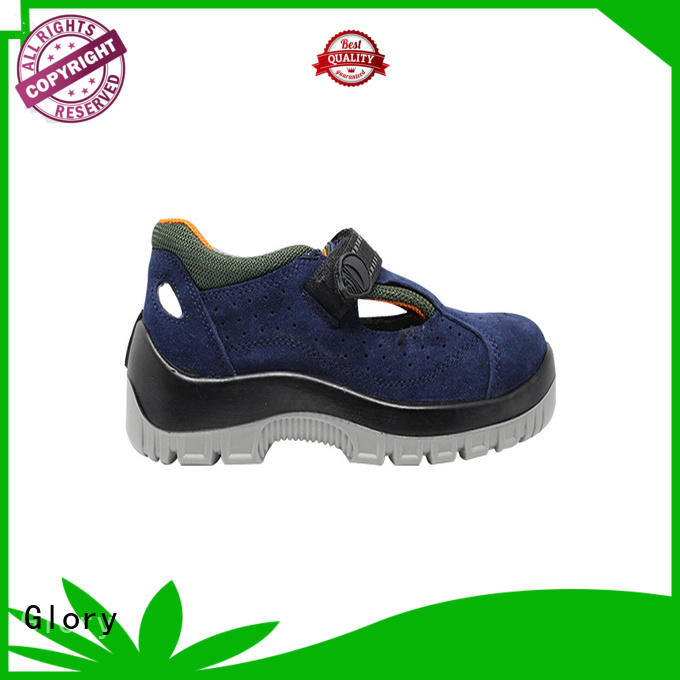 Glory Footwear tan leather safety shoes factory for party