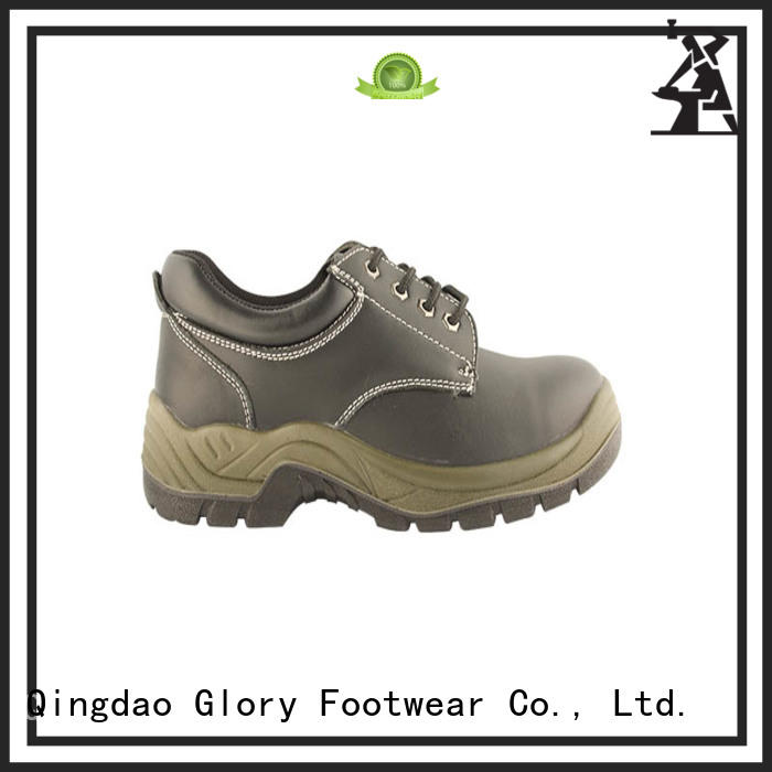 Low Ankle Lightweight Embossed action leather safety shoes with CE certificate