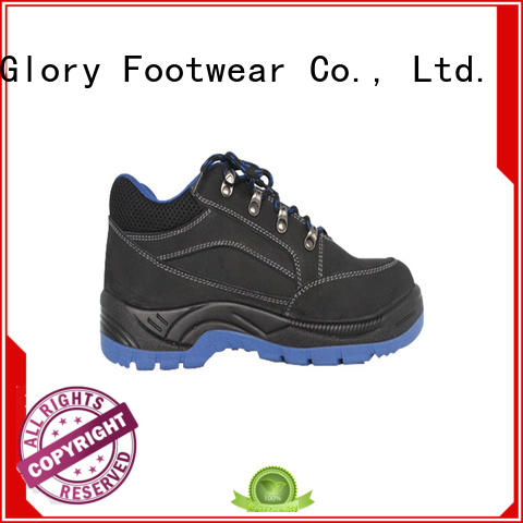 Glory Footwear solid leather safety shoes factory for hiking