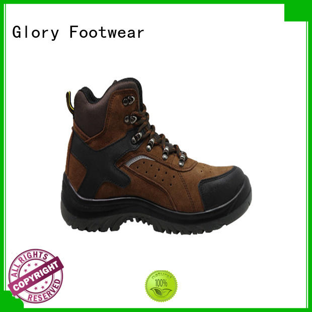 Glory Footwear toe black work boots from China for business travel
