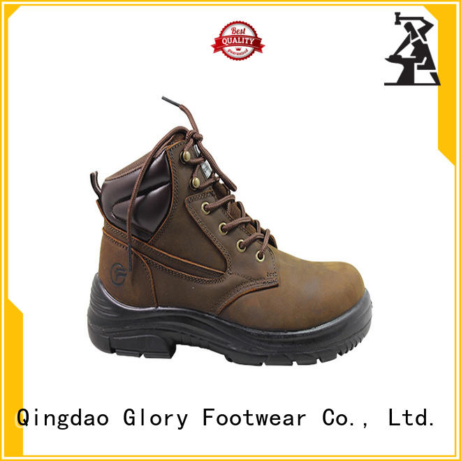 sole black work boots with good price for hiking Glory Footwear