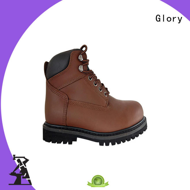 Best Goodyear welted rubber outsole steel toe safety boots with leather upper