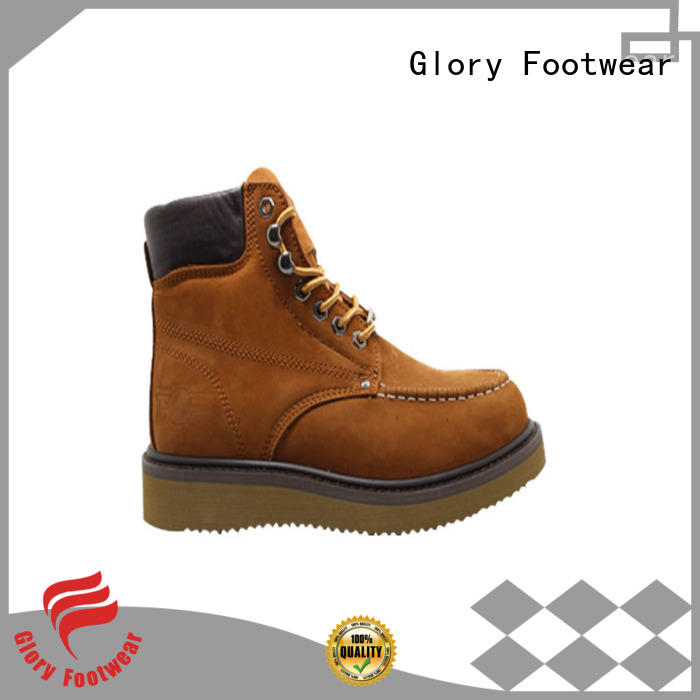 certificate black work boots factory price for shopping Glory Footwear