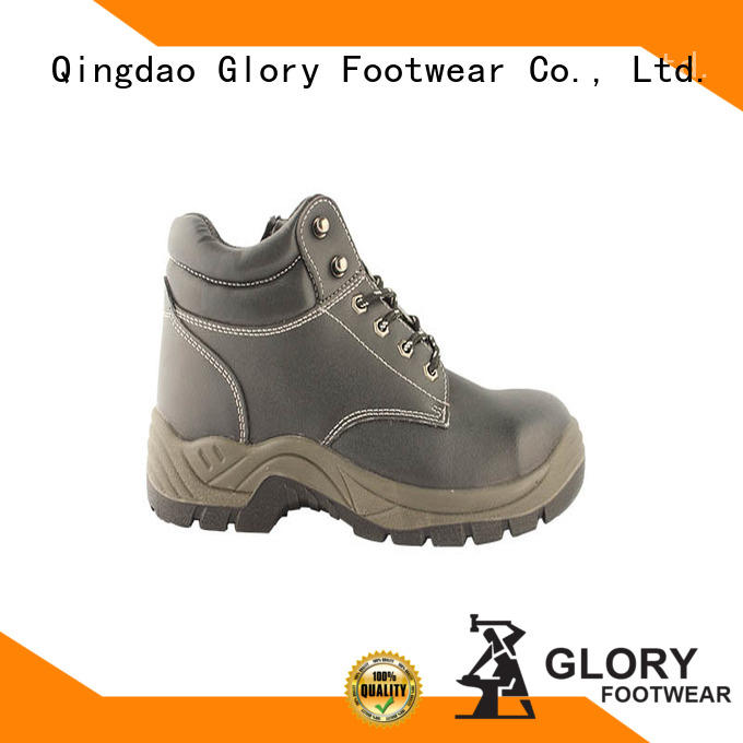 Lightweight Embossed action leather safety boots with CE certificate