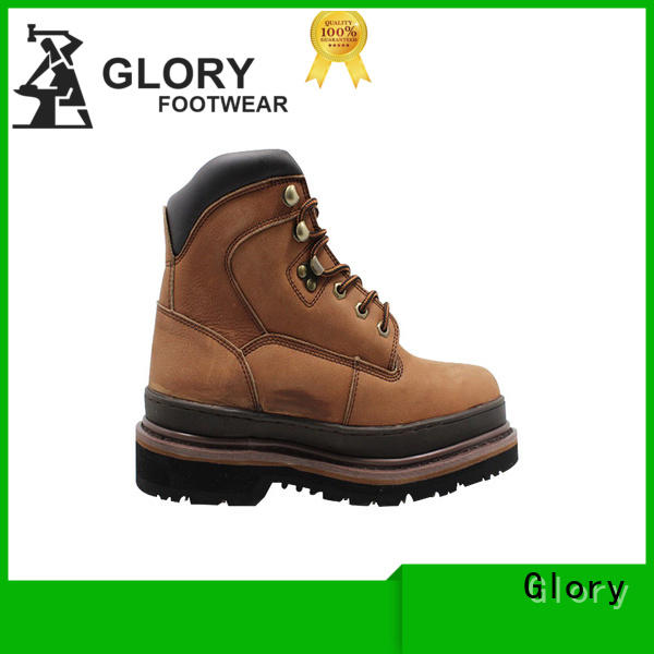 Glory Footwear high cut steel toe boots factory price for party