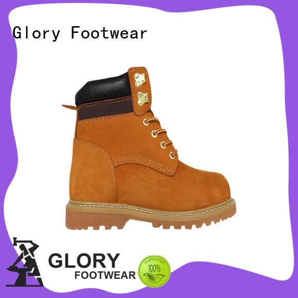 Glory Footwear man black steel toe boots factory price for business travel