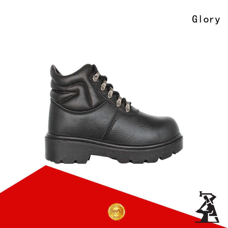 Glory Footwear grain leather safety shoes with good price for party