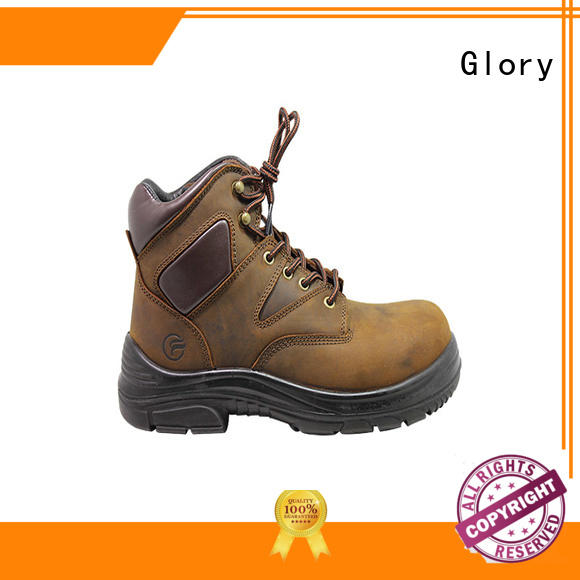 Glory Footwear gradely cheap steel toe boots leather for hiking