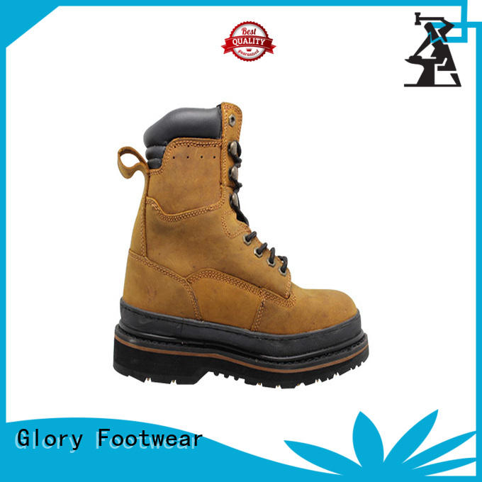 Crazy Horse Goodyear Welt Rubber Outsole Safety Boots