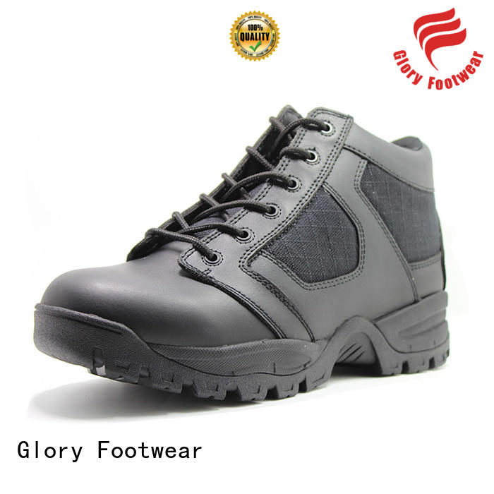 Glory Footwear injection leather work boots factory price for business travel