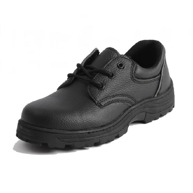 PU leather rubble good prices black work shoes