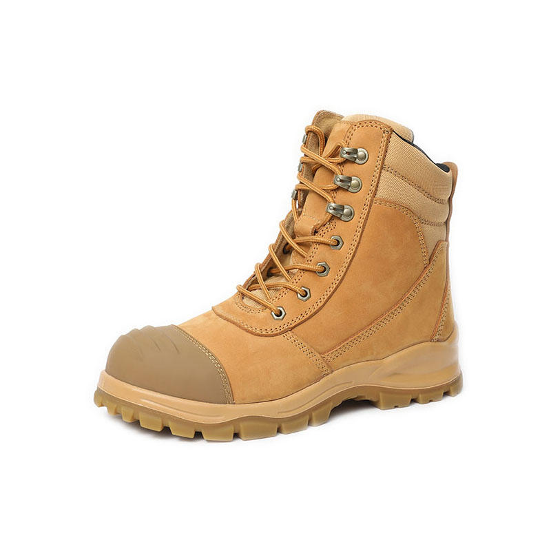 Leather steel toe safety workwear boots