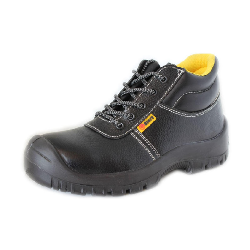 Leather lightweight steel toe safety shoes