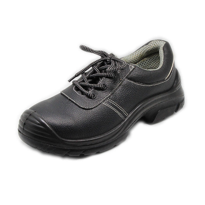 Comfortable leather steel toe work shoes