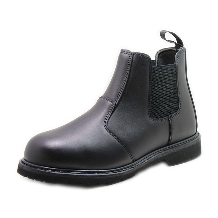 Leather steel toe good year welted work boots