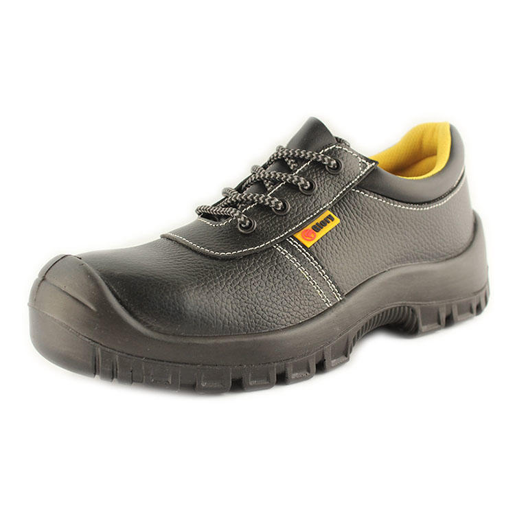 Low cut leather safety toe shoes