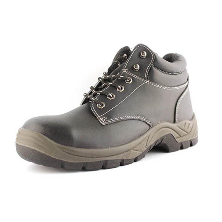 Leather steel toe safety shoes for men