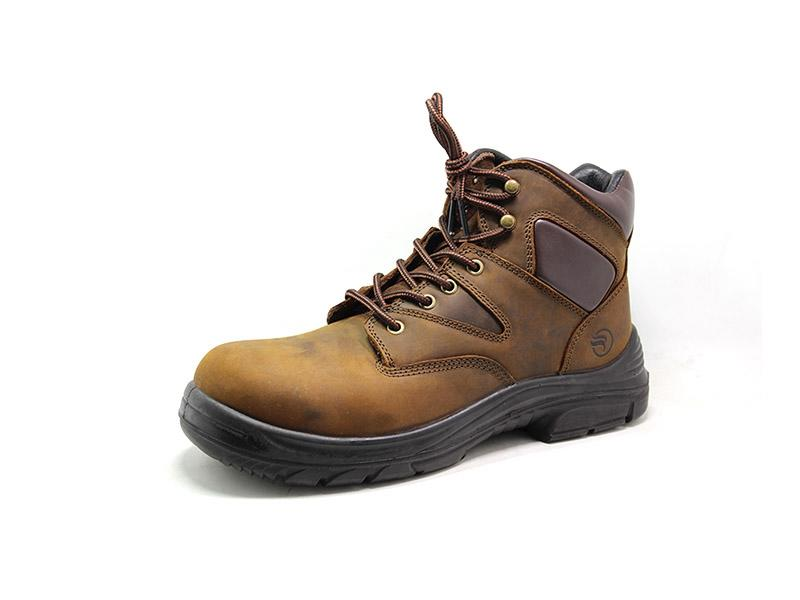 Crazy horse leather comfortable work boots